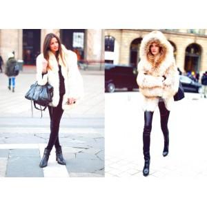 Красивое пальто с мехом – стильный современный выбор