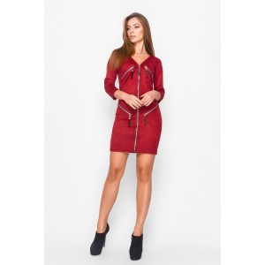 Платье Jill 26877-16 замшевое 46 Красный