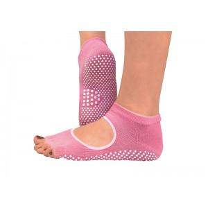 Носки для йоги нескользящие RAO Розовые (hub_ZfMC51313)