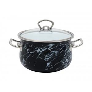 Кастрюля эмалированная Infinity Black Marble 2.9 л индукционная (UK-6367522_psg)