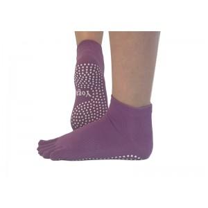 Носки для йоги нескользящие RAO Фиолетовые (hub_mcLl58076)