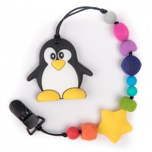 Силиконовый прорезыватель BabyMio Пингвин Разноцветный (PROP1)