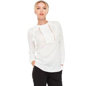 Блуза VILONNA 05 с воланом 34 Белый (F71023-34)
