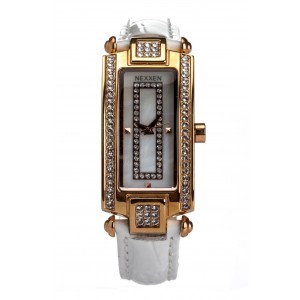 Женские часы Nexxen-12501CL RG/SIL/WHT Белый