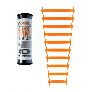 Силиконовые шнурки Coolnice Т01 10+10 Оранжевые