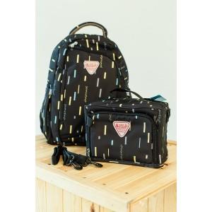 Рюкзак-органайзер + сумка для мамы Sunveno 2в1 Чёрная