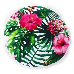 Пляжный коврик Kronos Top  Цветы гибискуса (top-454)