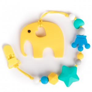 Силиконовый прорезыватель BabyMio Слон Желтый (PROYS1)