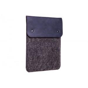 Вертикальный чехол Gmakin для Macbook Air/Pro 13.3'' Синий с черным (GM66)