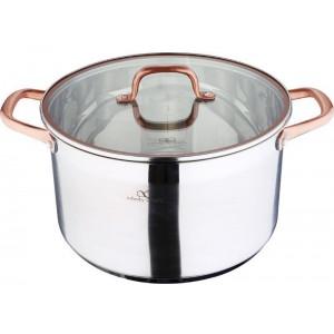 Кастрюля Bergner Infinity Chefs 9.5 л со стеклянной крышкой (BGIC-3506_psg)
