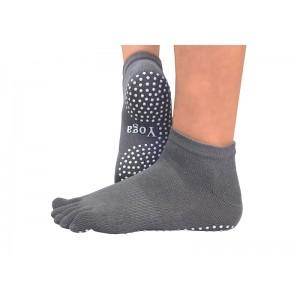 Носки для йоги нескользящие RAO Серые (hub_YHHL82963)