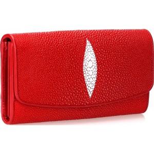 Кошелек кожаный STINGRAY LEATHER Красный (18030)