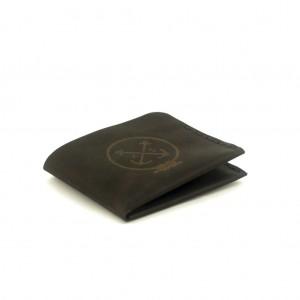 Мужской кошелёк кожаный Triplet (as120301) Чёрный