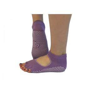 Носки для йоги нескользящие RAO Фиолетовые (hub_MAVx33083)