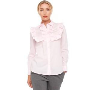 Блуза VILONNA 02 с рюшем 34 Светло-розовый (F71121-34)