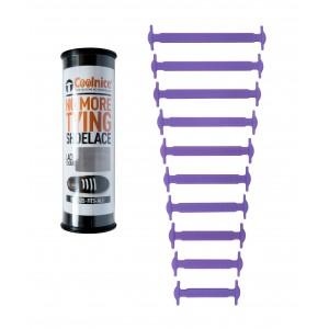 Силиконовые шнурки Coolnice Т01 10+10 Фиолетовые