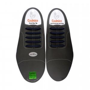 Силиконовые шнурки для кожаной обуви Coolnice Classic С04-40 Темно-синие
