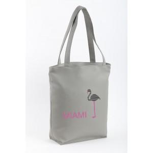 Сумка-шоппер с вышивкой Miami Серый (SB_025_fly_b)