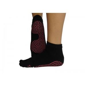 Носки для йоги нескользящие RAO Черные (hub_NXoY40152)