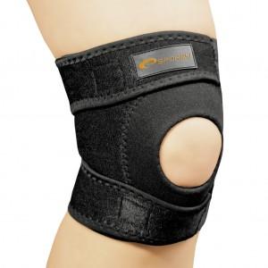 Бандаж спортивный для колена Spokey Musto фиксатор открытый универсальный Черный (s0404)