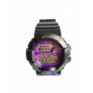 Электронные часы Sport LanLin Черный с фиолетовым (SP-20325V)