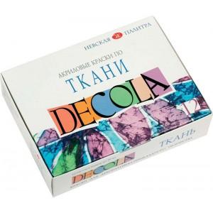 Краски по ткани акриловые DECOLA 12 цветов (350438)