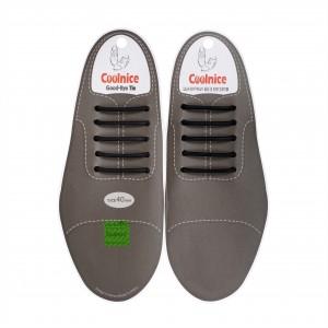 Силиконовые шнурки для кожаной обуви Coolnice Classic С01 Черные