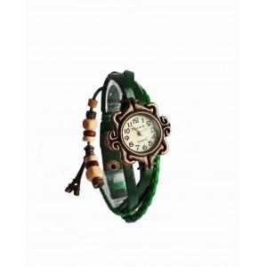 Часы женские кварцевые Viser Vintage Зеленые (0032G)