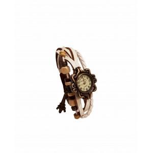 Часы женские кварцевые Viser Vintage Белые (0032W)