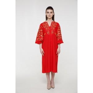 """Платье-вышиванка 2KOLYORY """"Знахідка"""" M-L Красный (3064-M/L)"""