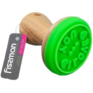 Штамп для печенья Fissman I Love You 6 см с деревянной ручкой (FN-PR-7659_psg)