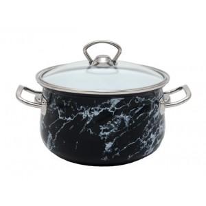Кастрюля эмалированная Infinity Black Marble 3.7 л индукционная (UK-6367523_psg)