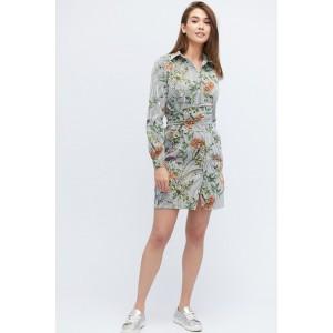 Платье  летнее Jill 10139-4 в полоску S Белый