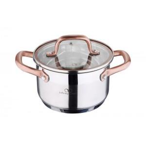 Кастрюля Bergner Infinity Chefs 1.8 л со стеклянной крышкой (BGIC-3505_psg)