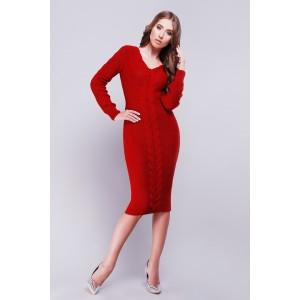 Платье Jill 26539-19 вязаное 42-46 Вишневый