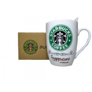 Чашка керамическая Starbucks с ложкой Green (gr006489)