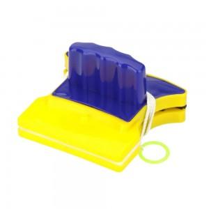 Магнитная щетка для мытья окон Double Faced Glass clean Желто-синяя (18615)