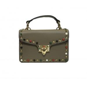 Женская сумка Appi  с декоративными деталями Серая (17085-3)