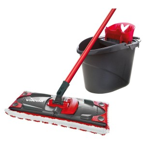 Комплект для уборки Vileda UltraMax Flat Mop Черно-красный (4023103143890)