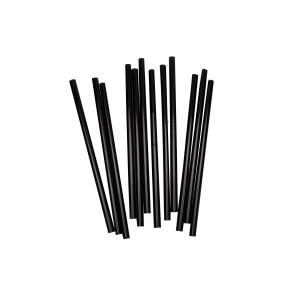 Трубочки для мартини 125 мм 200 шт Черные (72034)
