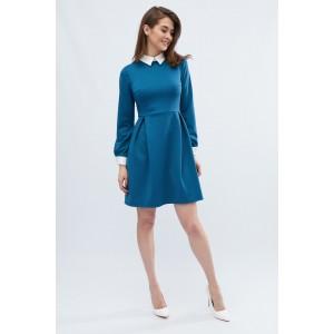 Платье Jill 10124-18 L Синий с белым