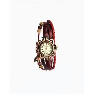 Часы женские кварцевые Viser Vintage Красные (0032R)