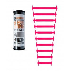Силиконовые шнурки Coolnice Т01 10+10 Розовые