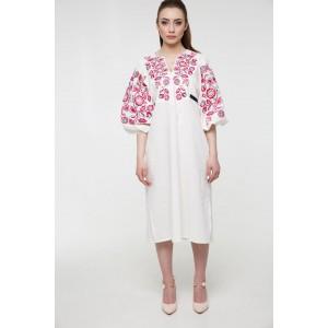 """Платье-вышиванка 2KOLYORY """"Знахідка"""" M-L Молочный (3062-M/L)"""