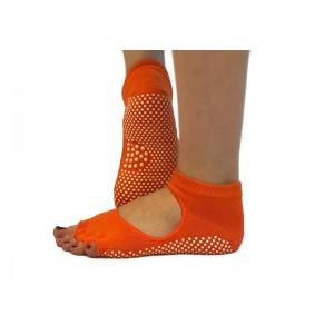 Носки для йоги нескользящие RAO Оранжевые (hub_ISOK62251)