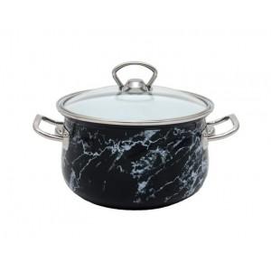 Кастрюля эмалированная Infinity Black Marble 2.1 л индукционная (UK-6367521_psg)