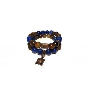 Женский браслет набор N4 Агат и Лазурит (955004)