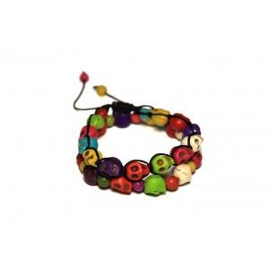 Женский браслет набор N28 Говлит, Цветные Черепки (955028)