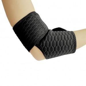 Бандаж спортивный для локтя Spokey Cubi фиксатор открытый универсальный Черный