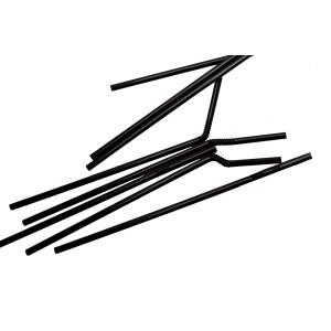 Трубочки с коленом 210 мм 200 шт Черная (76066)